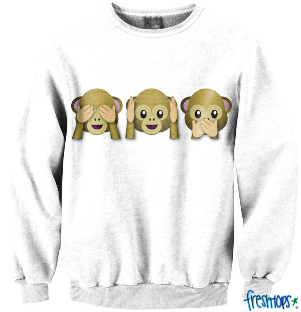 sweater crewneck crewneck crewneck sweatshirt sweatshirt emoji print emoji print