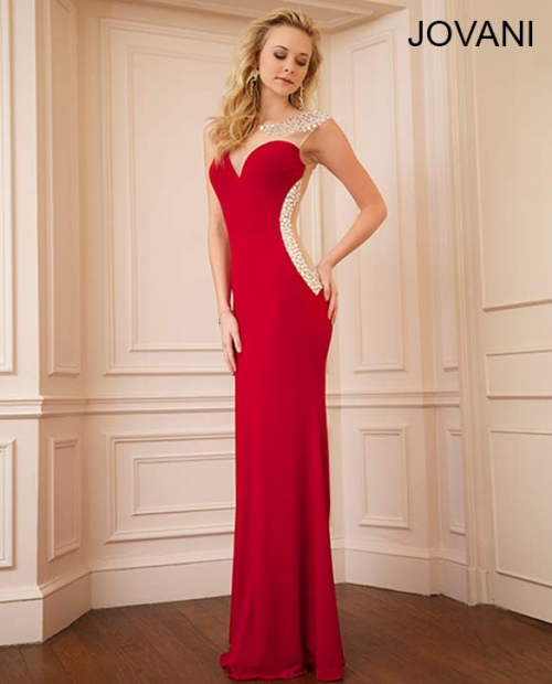 Beaded Jovani jersey gown