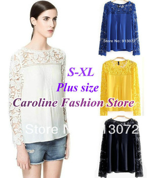 Aliexpress.com : Buy ST177 New fashion womens' elegant White dot print Chiffon Blouse with pockets girl' s shirts OL casual shirt long sleeve from Reliable chiffon blouse suppliers on Caroline Fashion Store (offer Drop shipping)