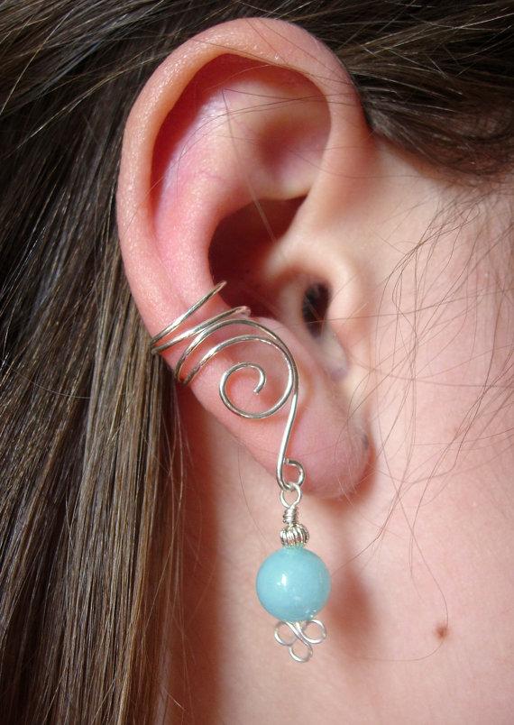 EAR CUFFS Pair of Solid Sterling Silver Ear Cuffs by jhammerberg