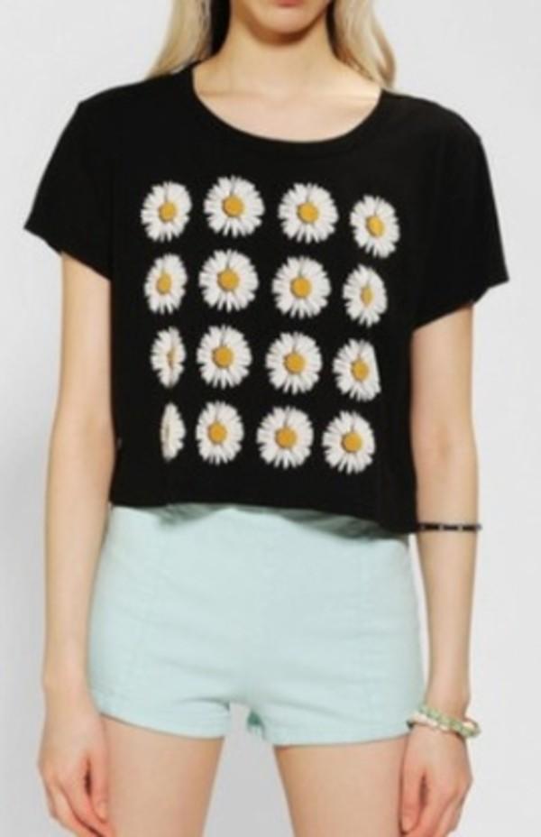 t-shirt daisy floral cute summer
