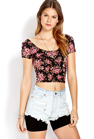 Sweet Thing Floral Crop Top | FOREVER 21 - 2000107606