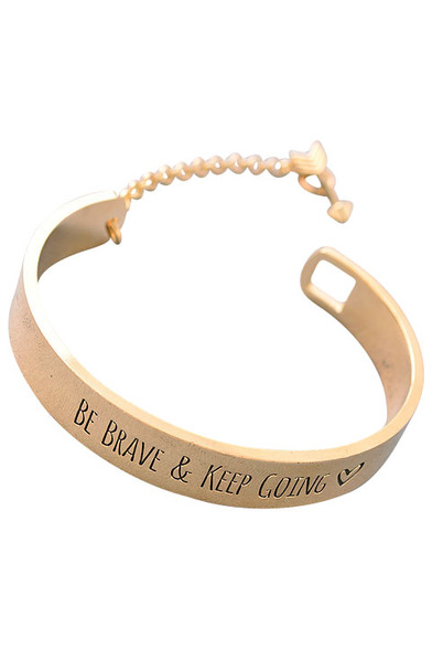 keep going bracelet be brave keep going cuff bracelet 8953
