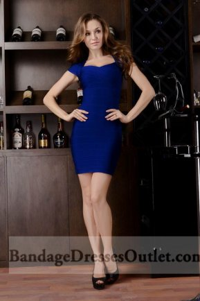 Cap Sleeves Allover Bandage Dress Royal Blue Outlet Shop [Cap Sleeves Royal Blue] - $165.00 : Cheap Bandage Dresses Online, Wholesale Price Bandage Dresses Outlet