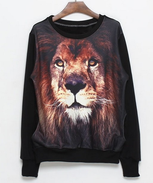 Aliexpress.com : Buy Free Shipping Fashion lion head pattern stitching sweater NOT U3270 from Reliable sweater outerwear suppliers on ED FASHION