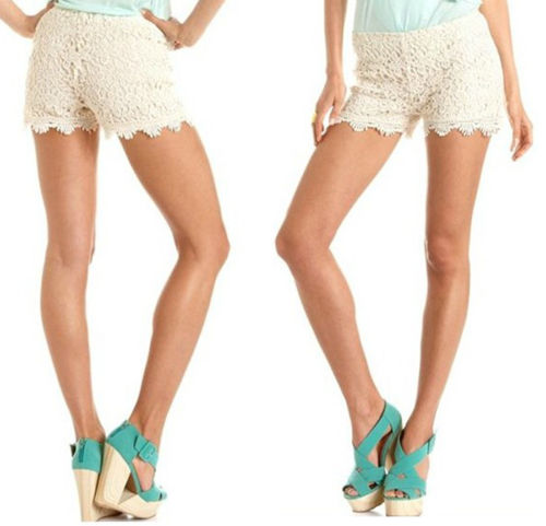 Vintage Summer Gorgeous Womens Sexy Crochet Lace Shorts Hot Pants Elastic Waist | eBay