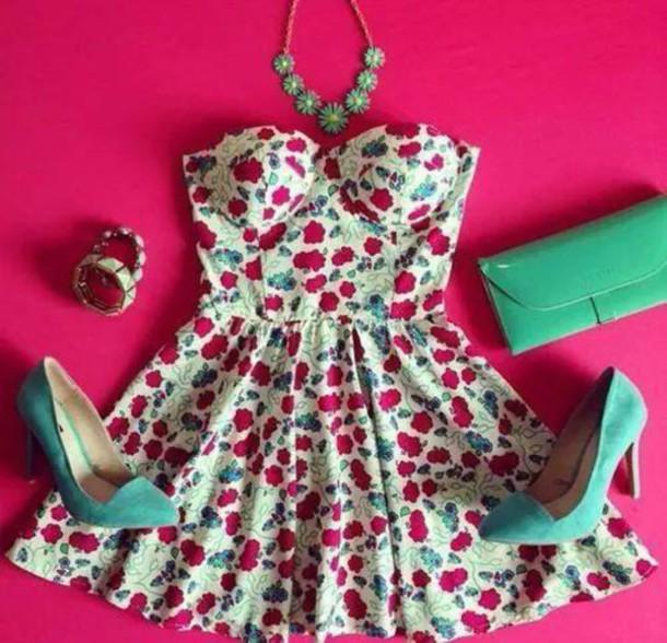 floral dress bustier dress dress