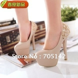 Free shipping!!! 2012 Fashion women high heel platform shoes, comfortable shoes/pumps for woman/lady/ladies-in Pumps from Shoes on Aliexpress.com