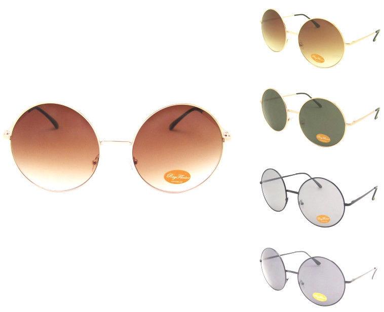 BIG Round John Lennon Style Circle Oversize Geek Retro Vintage Party Sunglasses | eBay