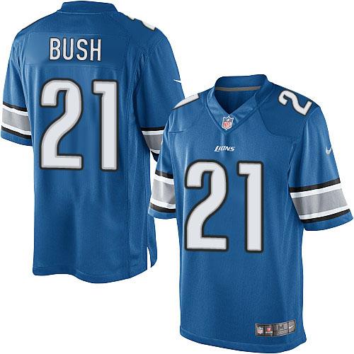 Limited Mens Nike Detroit Lions #21 Reggie Bush Light Blue Team Color NFL Jersey at detroitlionsfanstore.com
