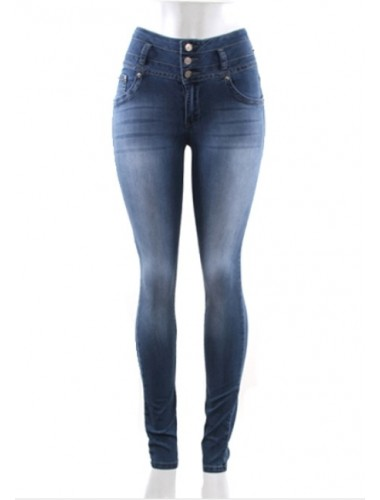 Button High Waist Jeans | Clothing | Womens Clothing, Shoes, Jewelry & Plus Sizes | B. De'Lish