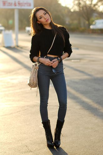 hapa time t-shirt jewels bag shoes jeans sweater black blogger