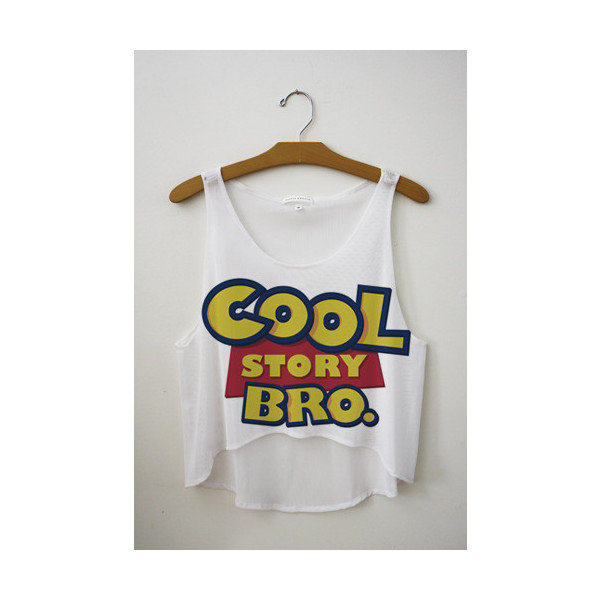 Cool Story Bro Crop Top - Polyvore