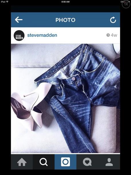 shoes white high heels steve maddenn
