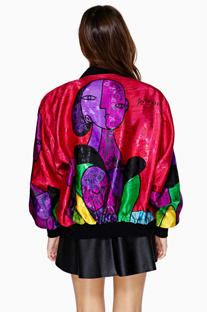 Picasso Surrealism Bomber Jacket | Shop Vintage at Nasty Gal