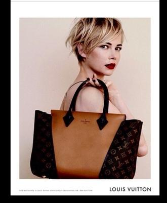 bag lvoe louis vuitton bicolor brown leather bag chic