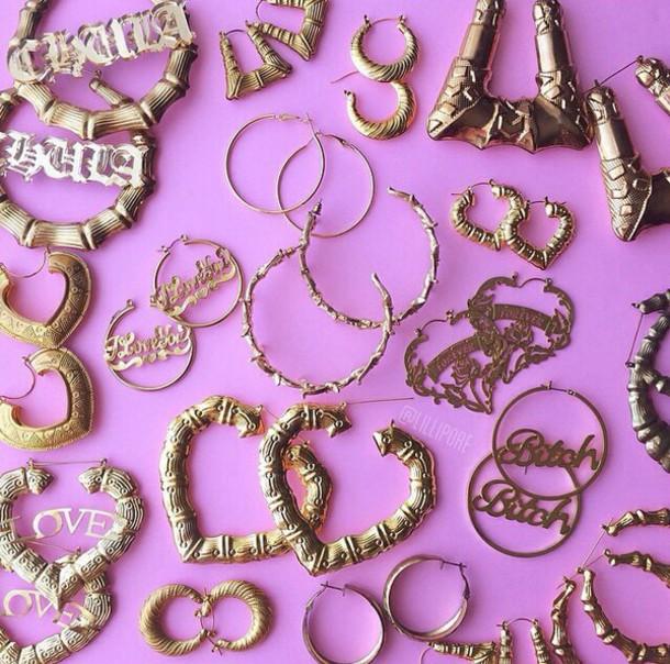 jewels gold earrings