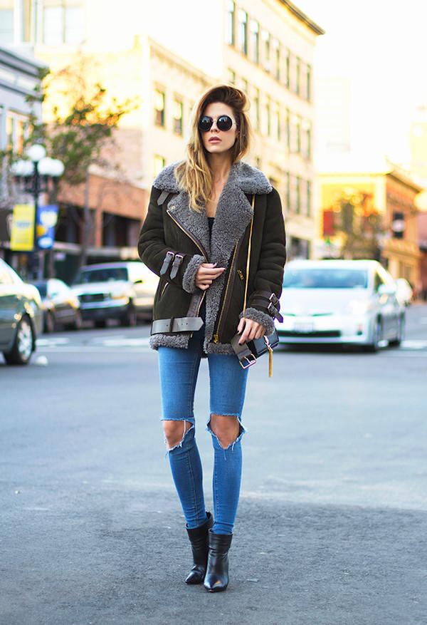sunglasses jacket tank top bag shoes