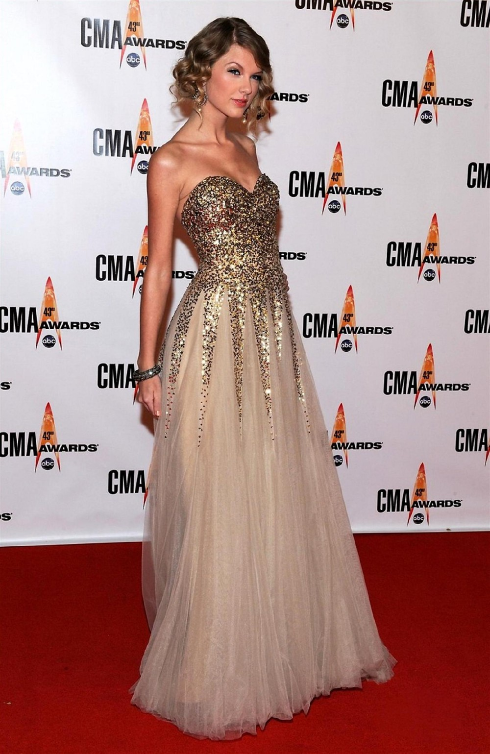 2014 Sexy Sequin Taylor Swift Dress A Line Sweetheart Gold Tulle Elie Saab Floor Length Celebrity Dress Prom Dress-in Celebrity-Inspired Dresses from Apparel & Accessories on Aliexpress.com