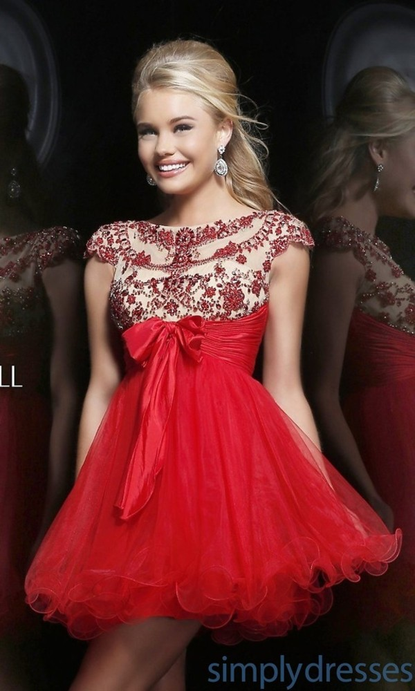 dress prom dress short prom dress high neck short sleeve