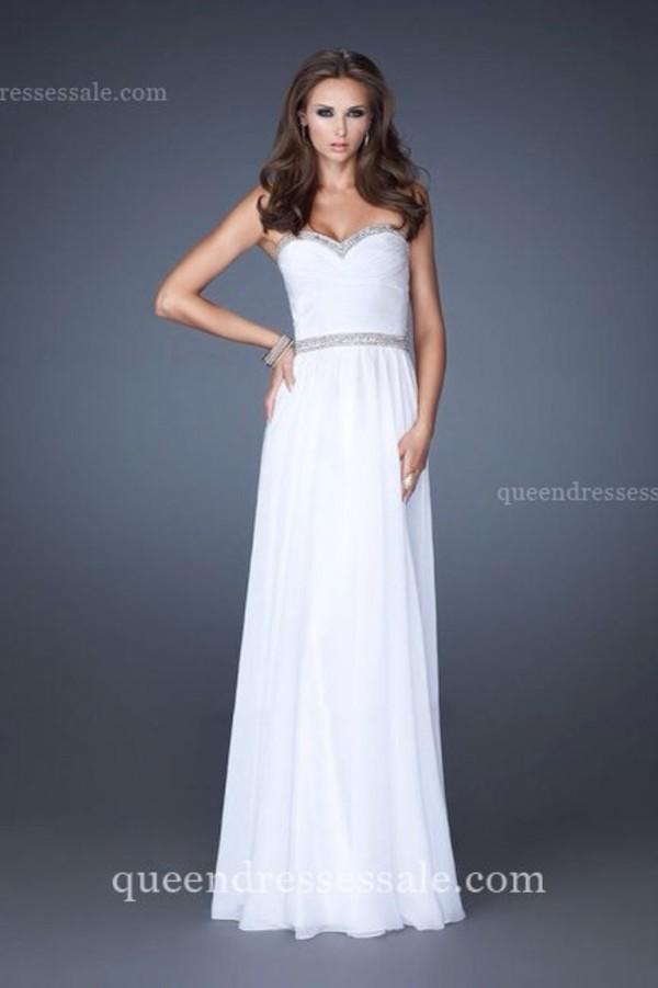 dress prom dress white prom dress ball gown dress