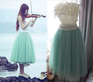 free shippingPrincess Fairy Style 5 layers Voile Tulle Skirt Bouffant Puffy fashion skirt long skirts-inSkirts from Apparel & Accessories on Aliexpress.com