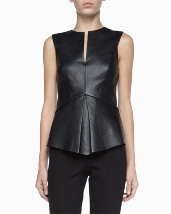 Robert Rodriguez | Stretch-Leather Sleeveless Top - CUSP