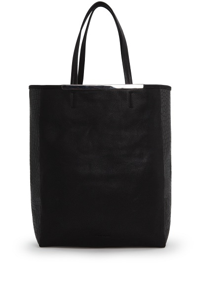 MANGO - Accessories - BAGS - Croc-effect side shopper bag