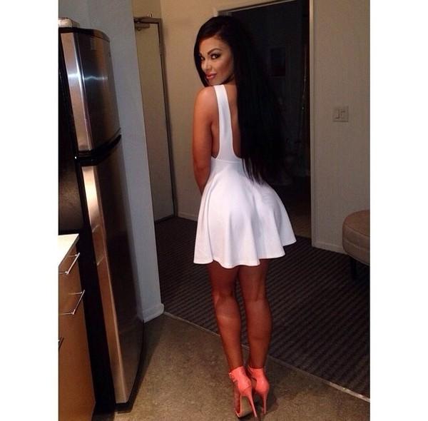 dress white dress heels
