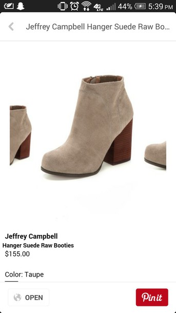 shoes suede boots booties heels suede boots suede booties grey light grey light gray cute shoes feminine modern classy new taupe taupe booties taupe heels jeffrey campbell taupe suede ankle boots taupe suede boots