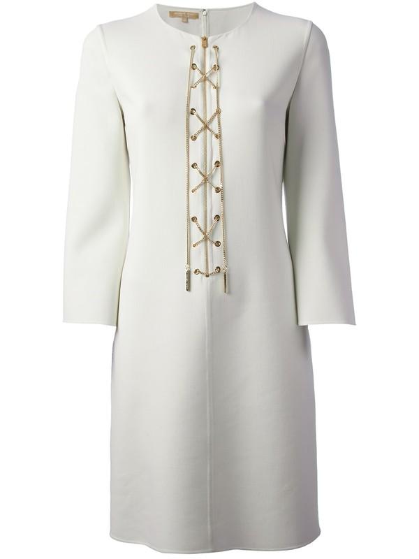 dress michael kors cross zip dress white dress