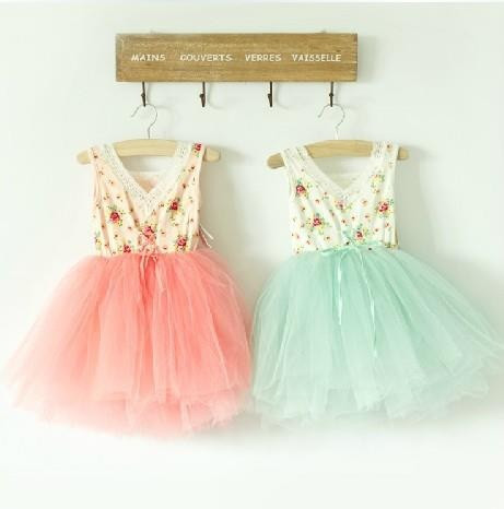 Vintage Floral Lace and Tulle Tutu Dress - Loved by Chloe