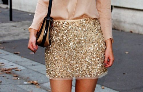 Zara Gold Sequin Skirt Embellished Beaded Sequinned Size Medium Last One | eBay