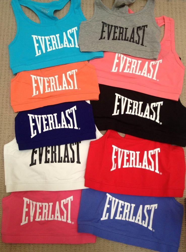Everlast Women'S Y Back Crop Sports BRA TOP XS S M L XL 8 10 12 14 16 RRP$45 | eBay
