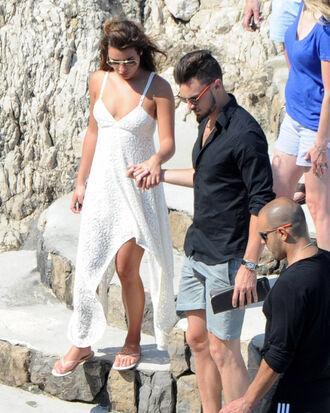 dress lea michele sunglasses summer dress white dress glee