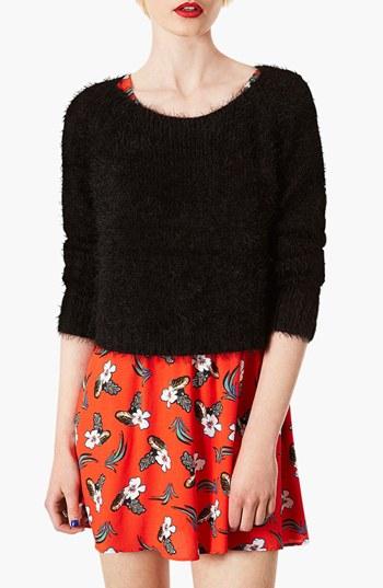 Topshop 'Monster' Fluffy Crop Sweater (Regular & Petite) | Nordstrom
