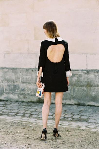 vanessa jackman blogger collared dress backless dress