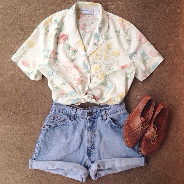 top clothes shoes shorts blouse