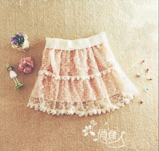 Sweet Lace Lap Halter Girdle Princess Skirt Beige (US$ 17.43 / US$ 19.92)