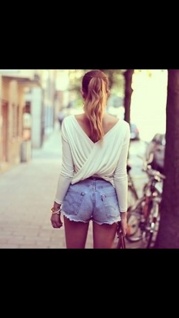 shirt criss cross back white criss cross back cute fancy blouse dress shirt lovely