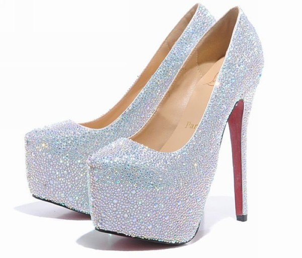 shoes high heels sparkle