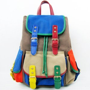 Amazon.com: Threeseasons Women Girls Causal Canvas Backpack Rucksack Shoulders Bag Satchel BG81: Beauty