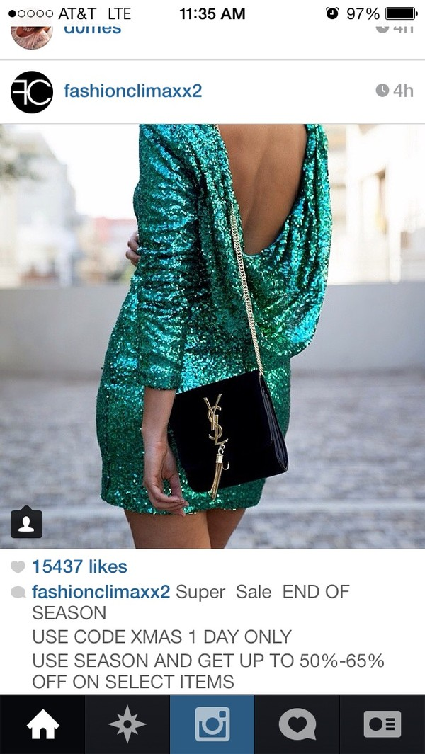 dress sequin dress turquoise low back bag