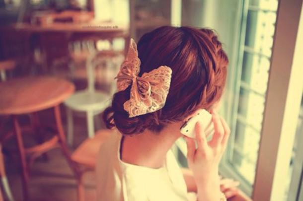 hair accessory bows hair bow romantic