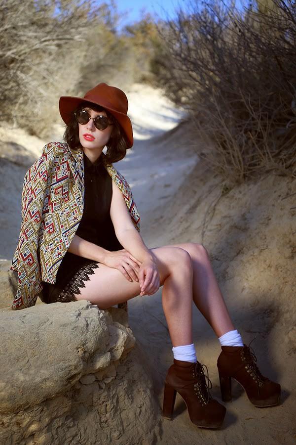 a fashion nerd jacket sunglasses romper