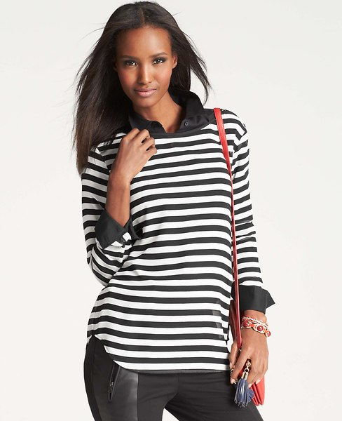 Striped Long Sleeve Tee | Ann Taylor