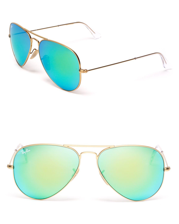 Ray-Ban Mirror Aviator Sunglasses   Bloomingdale's