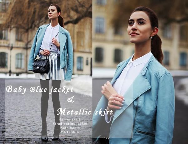 tina sizonova skirt shirt jacket shoes jewels coat