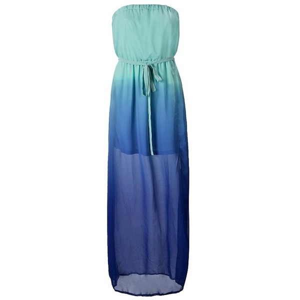 BANDEAU MAXI DRESS IN CHIFFON OMBRE - Polyvore