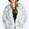 Katja rainbow pastel faux fur coat